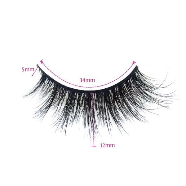 real mink lashes wholesale-MONACA-Dimension