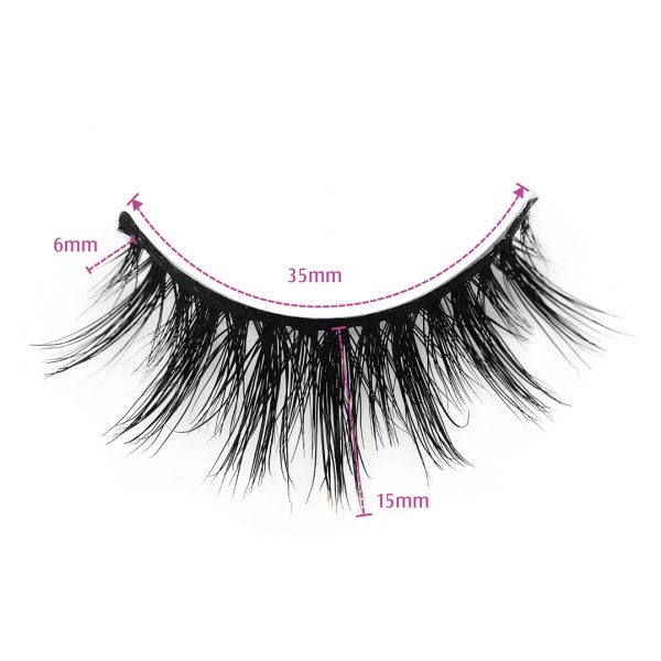 mink fur lashes-TEASE-Dimension