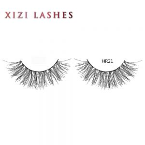 Human Hair False Eyelashes with Knot Free Band — XIZI HR21
