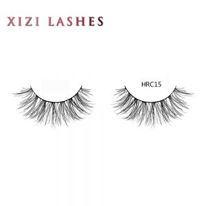 Human Hair False Lashes with Knot Free Band — XIZI HRC15