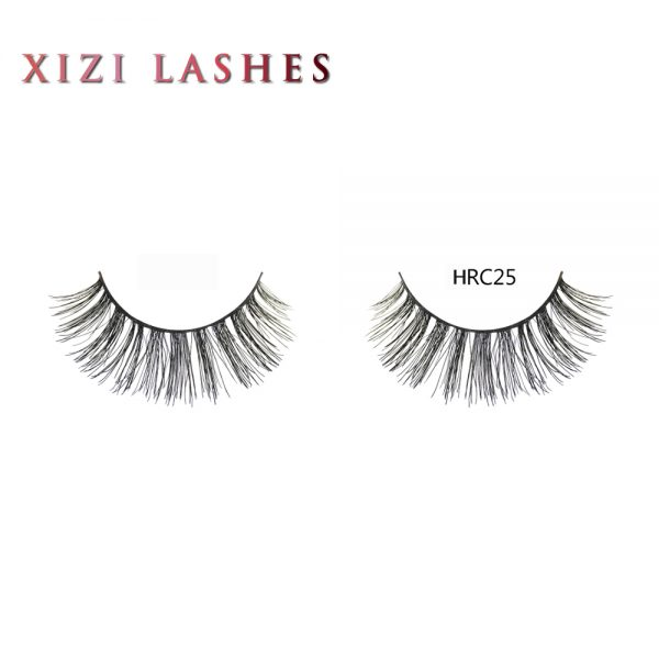 Human Hair Weave Eyelashes with Knot Free Band — XIZI HRC25